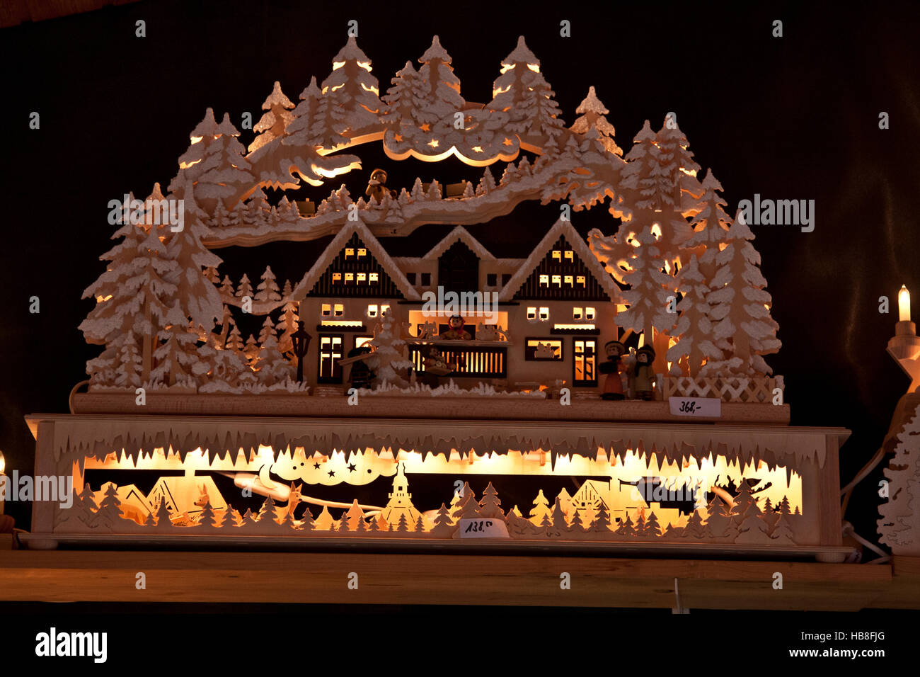 christmas fair market at ludwigsberg germany carved wooden candle carousel village scene