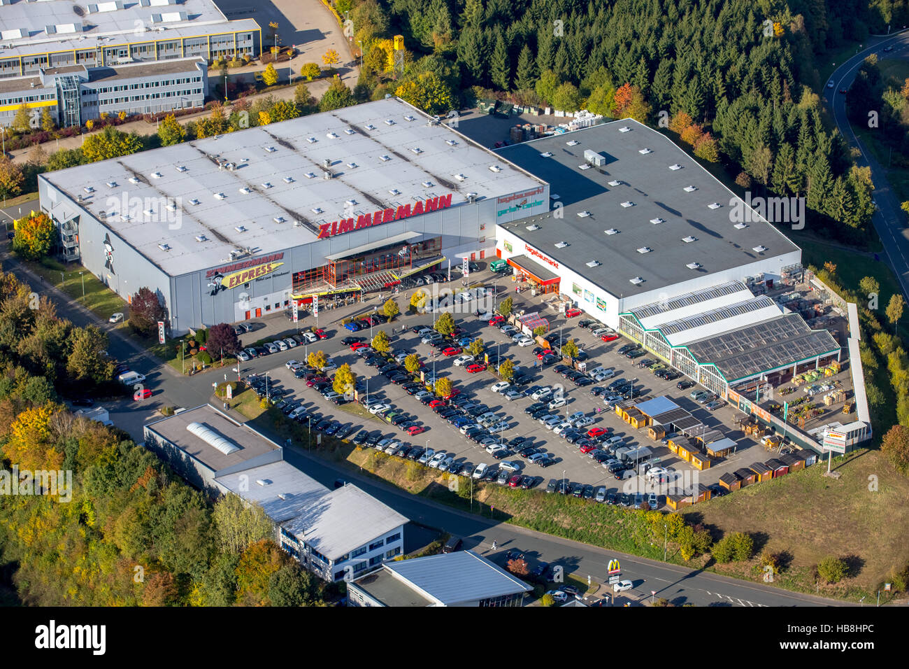 Aerial View Furniture Zimmermann Gmbh And Co Kg Hagebaumarkt