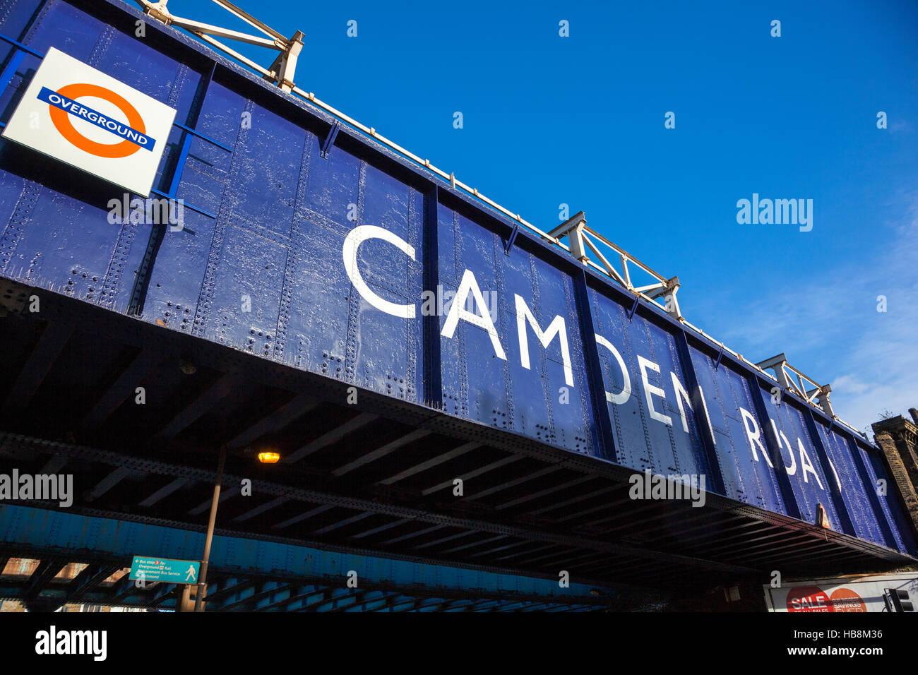 Camden Road Overground Station, London, UK - Stock Image
