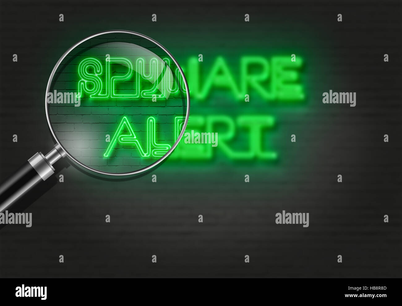 SPYWARE ALERT - Stock Image