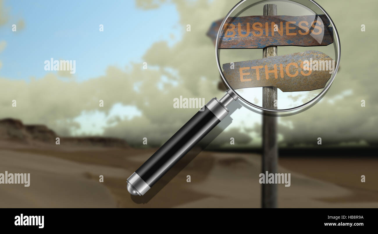 sign direction business-ethics Stock Photo