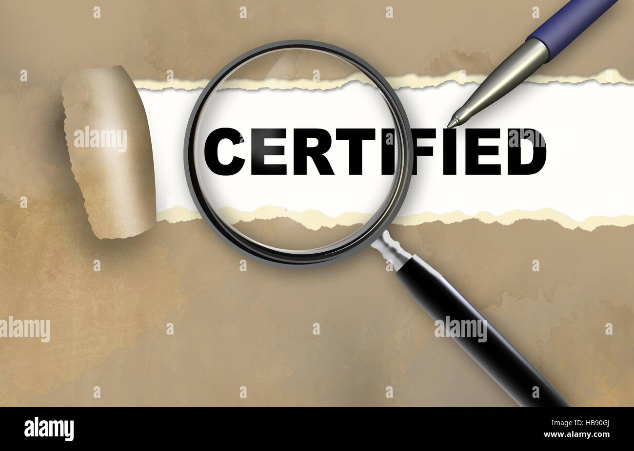certified - Stock Image