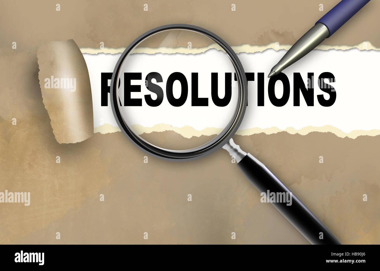 resolution - Stock Image