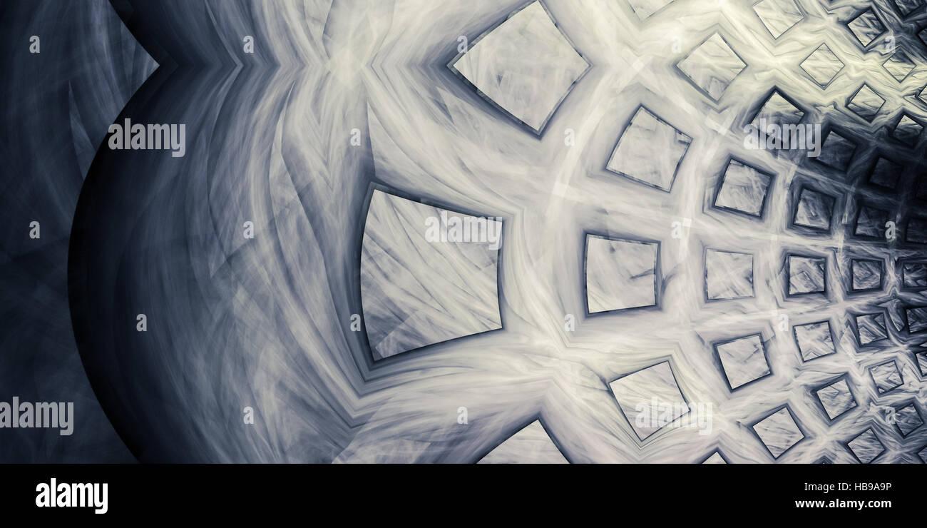 Warped squares - Stock Image