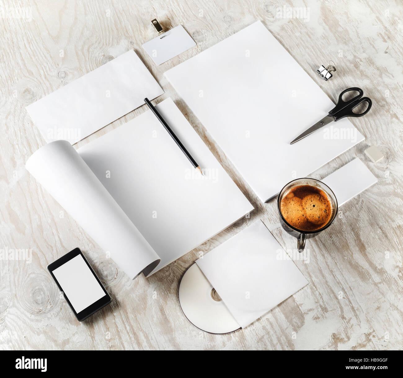 Blank branding identity - Stock Image