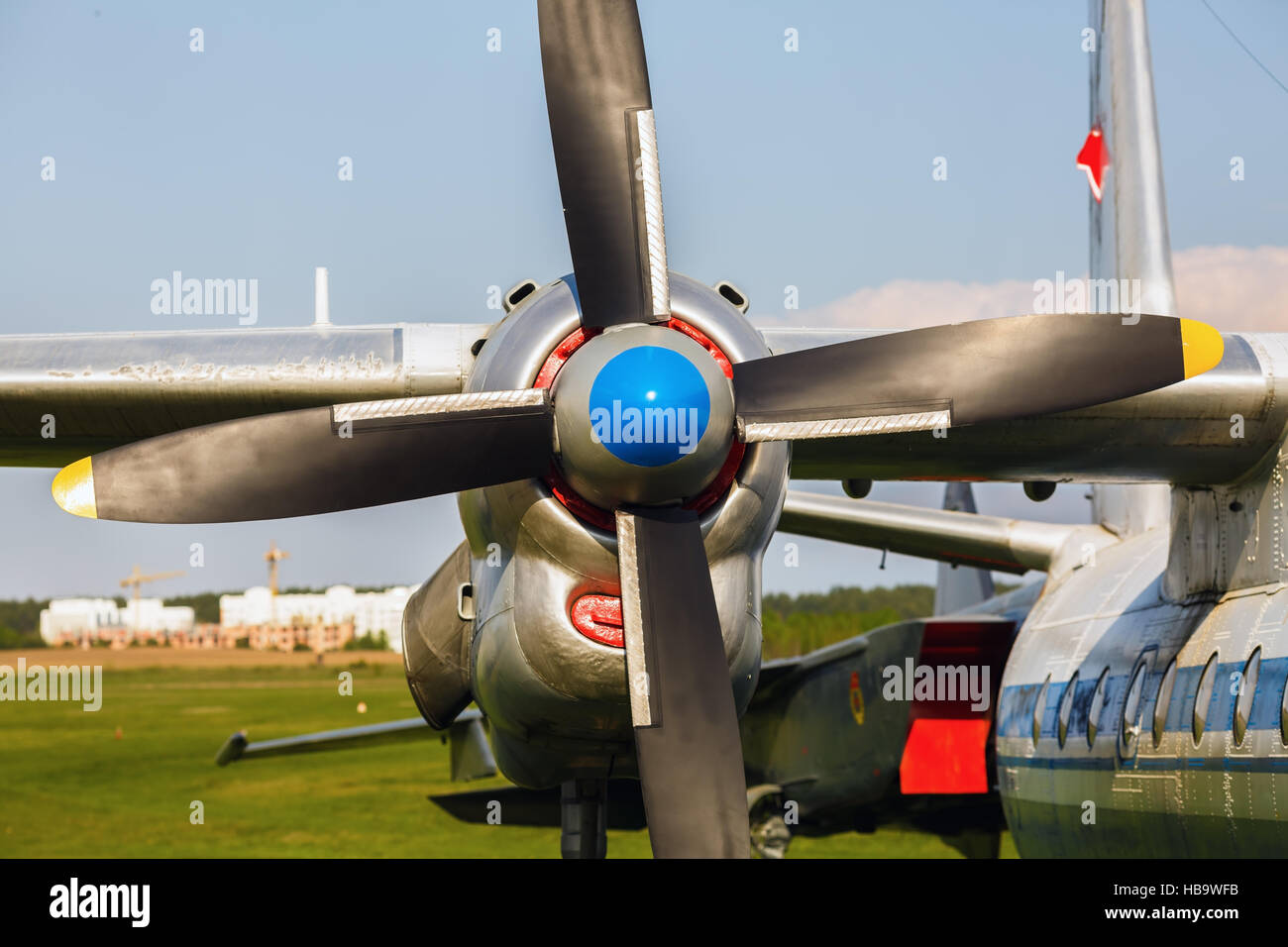 Turboprop transport aircraft - Stock Image