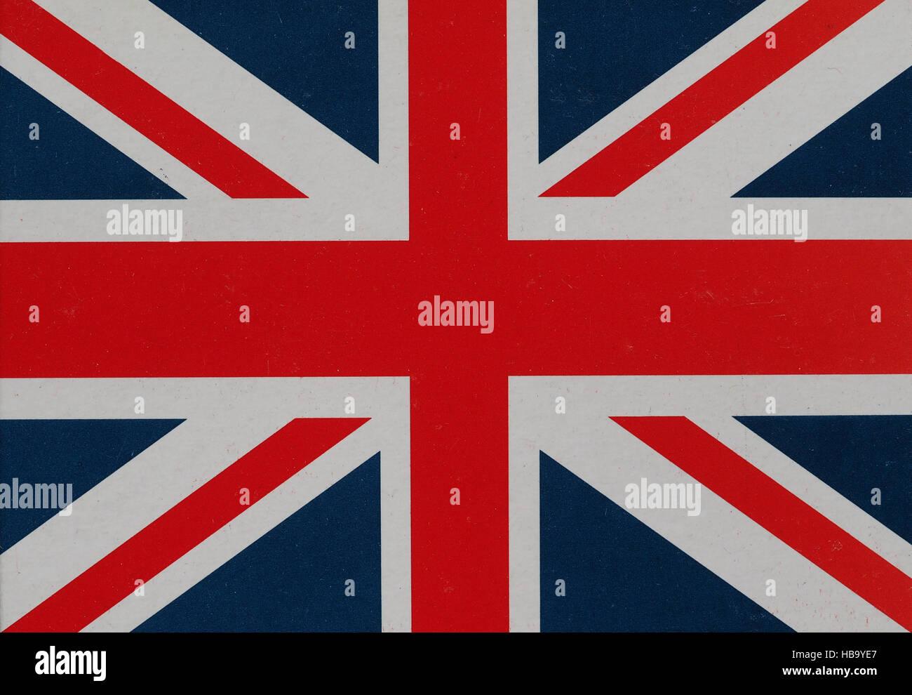 Flag of the United Kingdom aka Union Jack Stock Photo