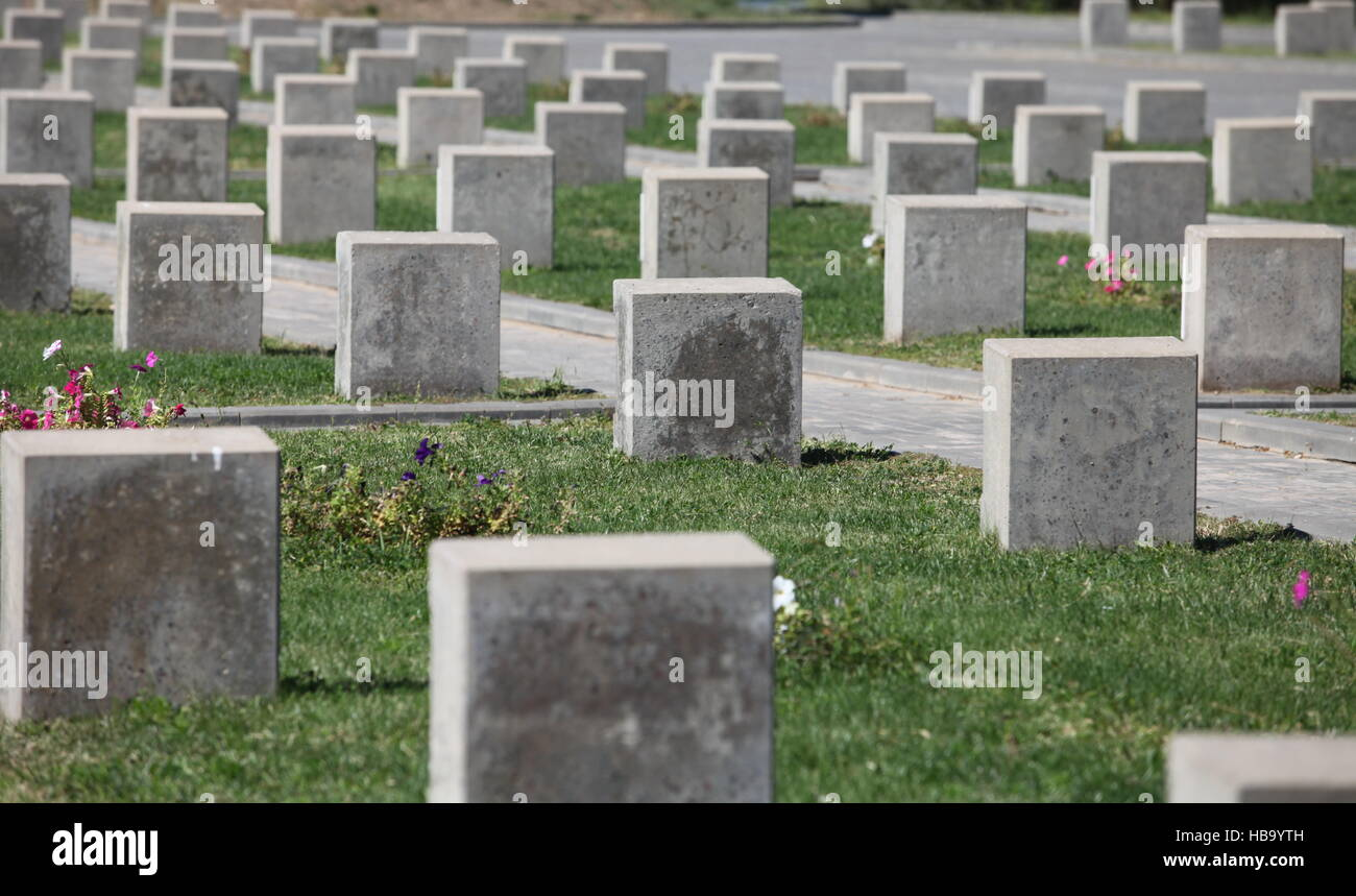 tombstones unknown soldiers - Stock Image