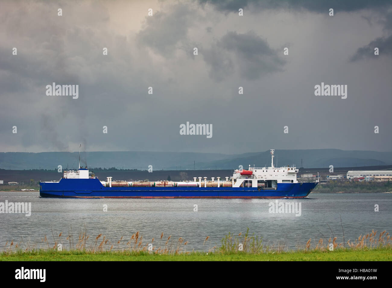 Ro-Ro Cargo Ship - Stock Image
