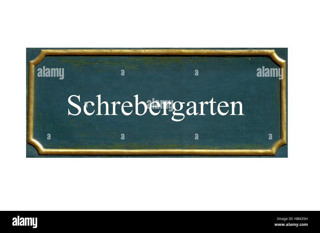 shield  schrebergarten - Stock Image