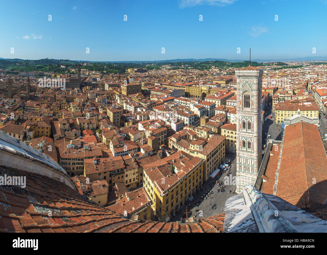 Panoramic view of Florence, Italy - Stock Image