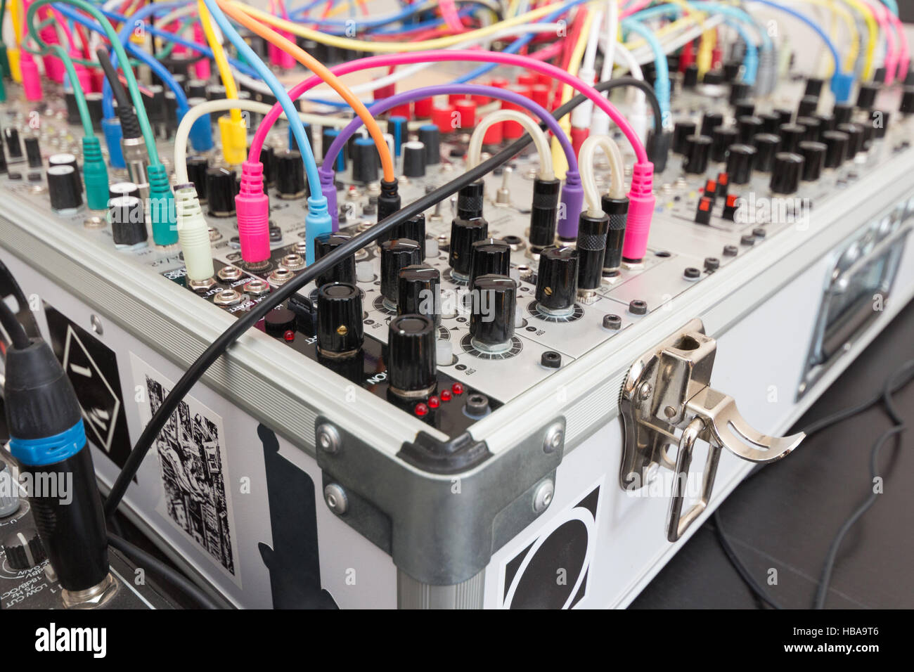analog synthesizer - modular synth - Stock Image