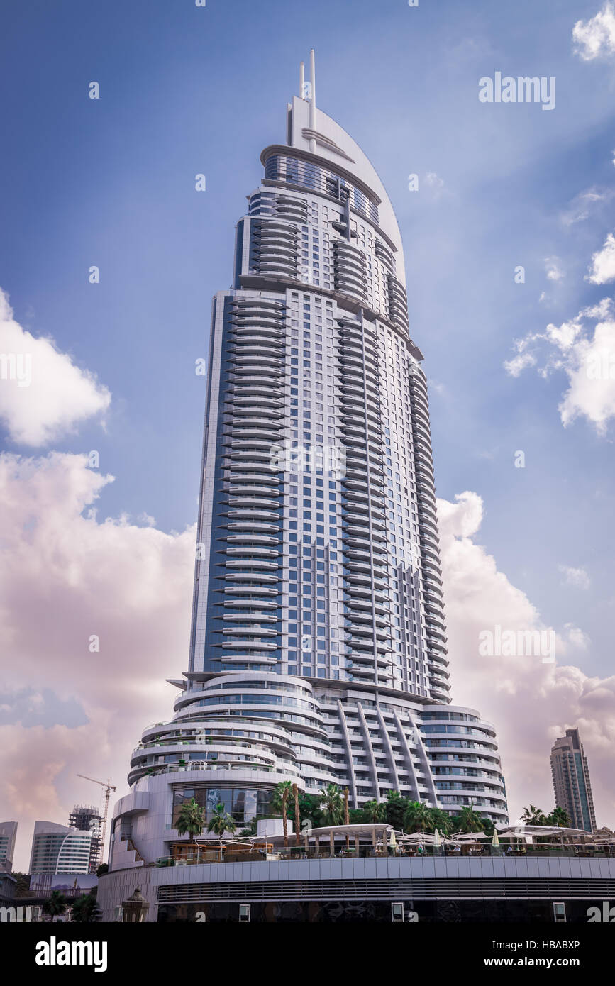 The luxury Address Hotel in Dubai - Stock Image