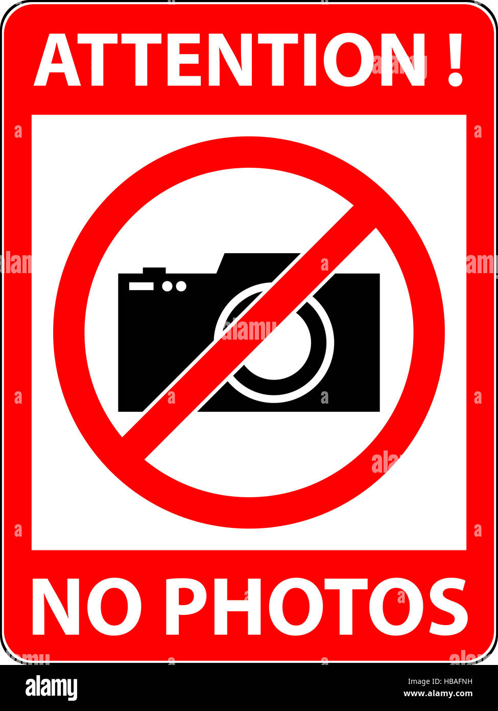Is photography prohibited in the supermarket