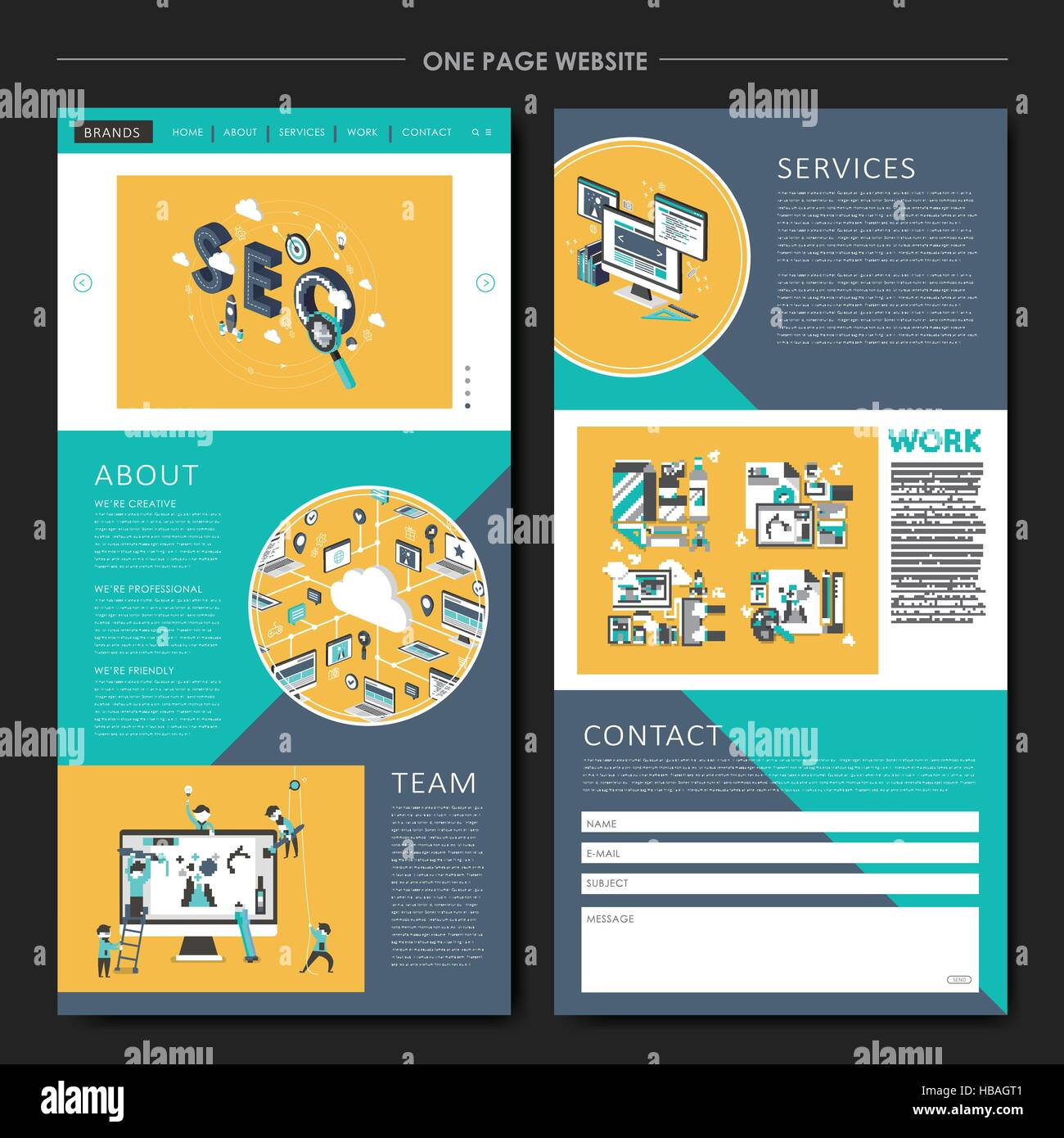 Business concept one page website design template in flat style business concept one page website design template in flat style cheaphphosting