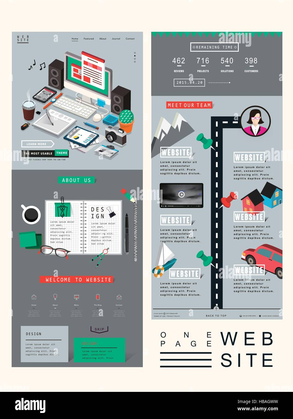 Workplace concept one page website design template in 3d isometric workplace concept one page website design template in 3d isometric style maxwellsz