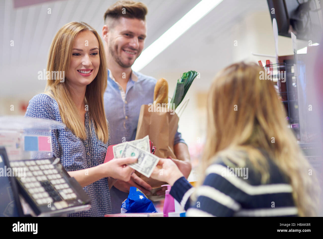 The last phase of shopping - Stock Image