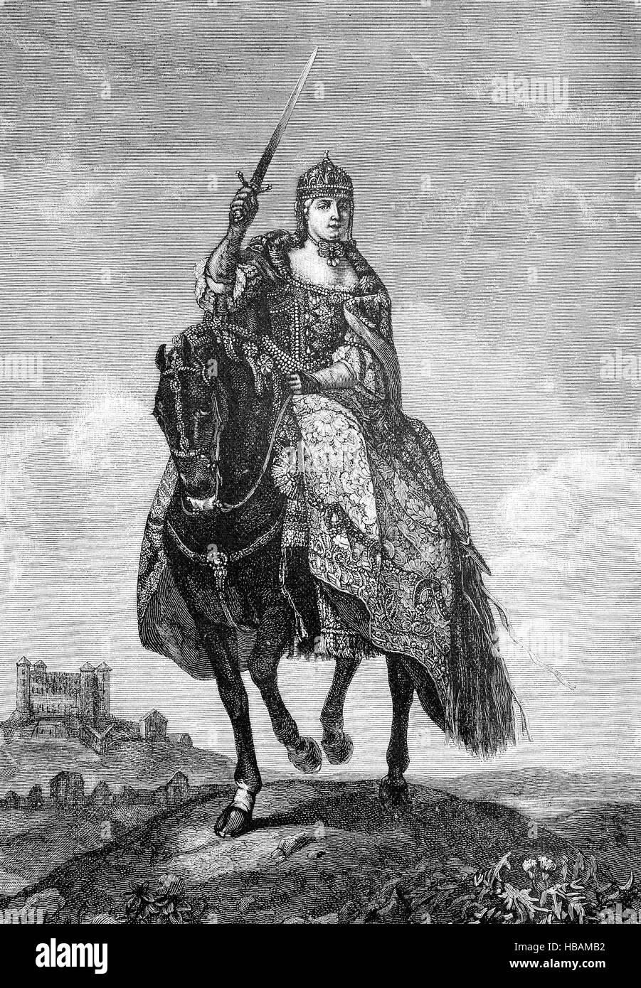 Maria Theresa Walburga Amalia Christina, Maria Theresia , 13 May 1717 - 29 November 1780, was the only female ruler - Stock Image