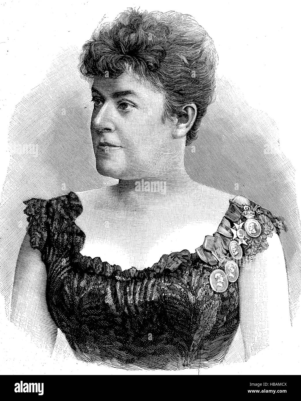 Therese Malten was the stage name of Therese Mueller, 21 June 1855 - 2 January 1930, a well-known German dramatic - Stock Image