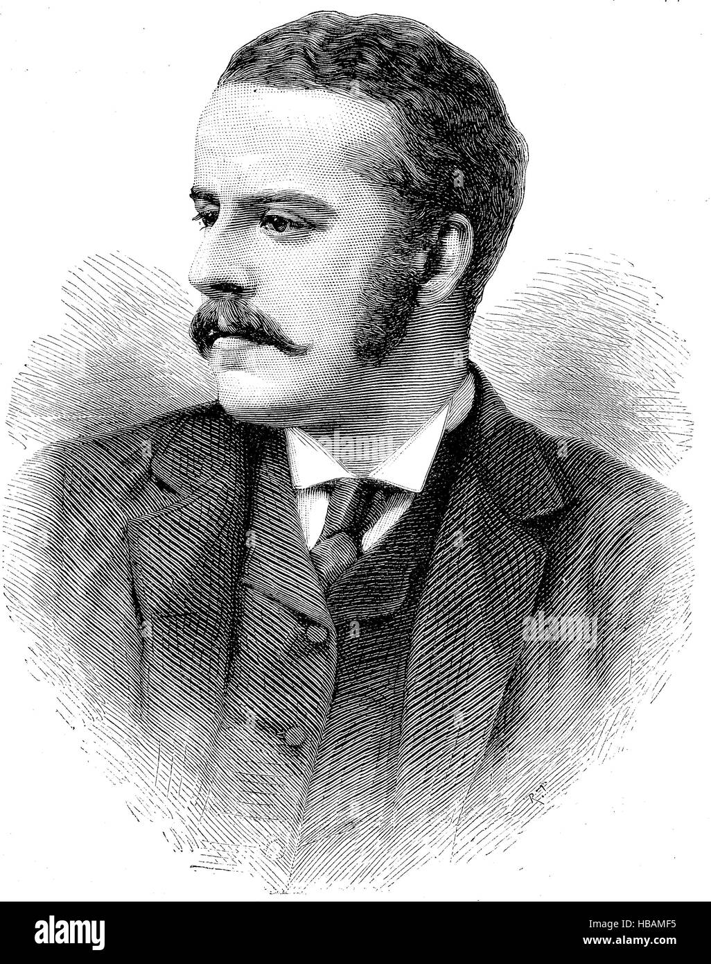 Alexander William George Duff, 1st Duke of Fife, 1849 -1912, hictorical illustration from 1880 - Stock Image