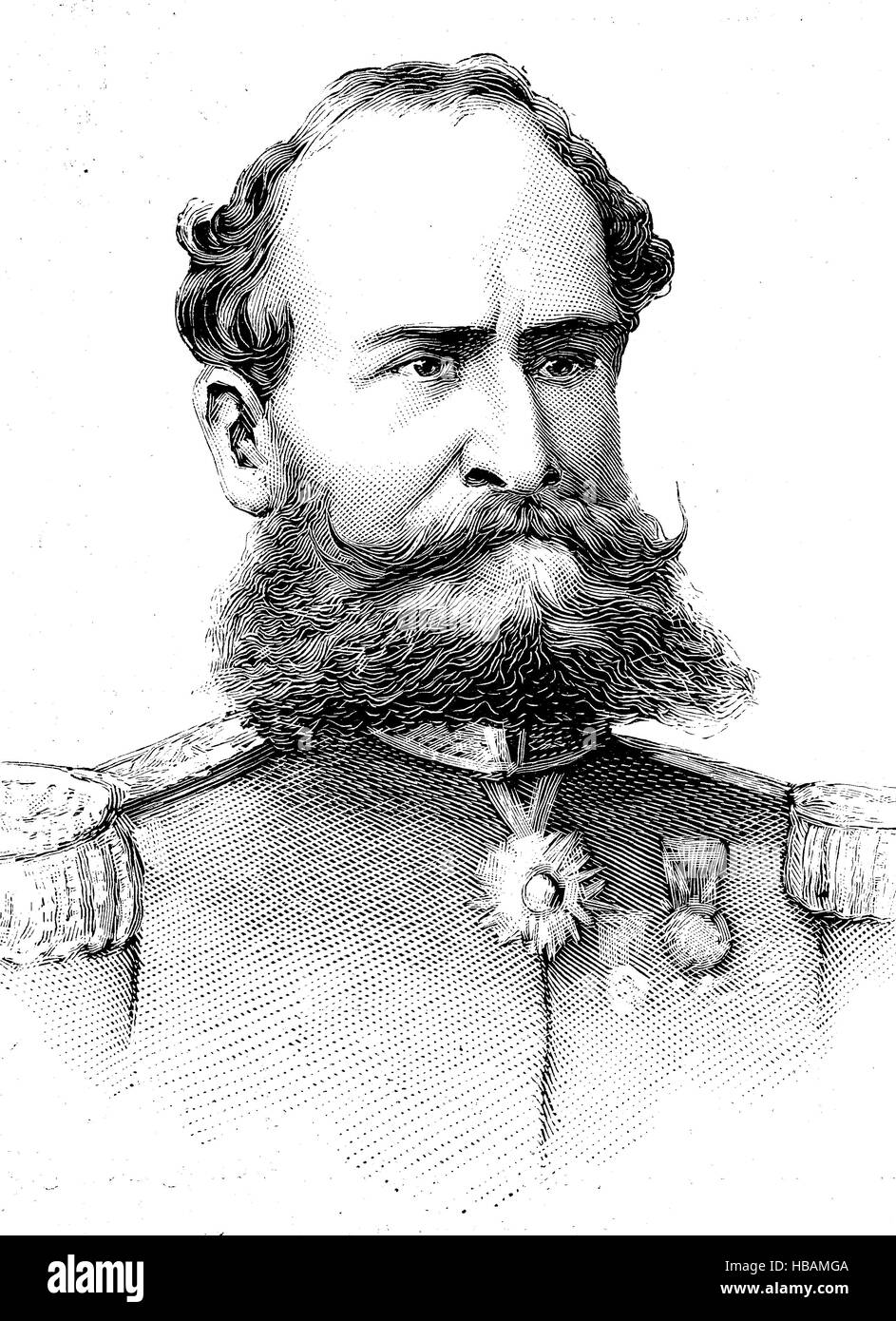 Manuel Deodoro da Fonseca, 1827 - 23 August 1892, was a Brazilian politician and military officer who served as - Stock Image