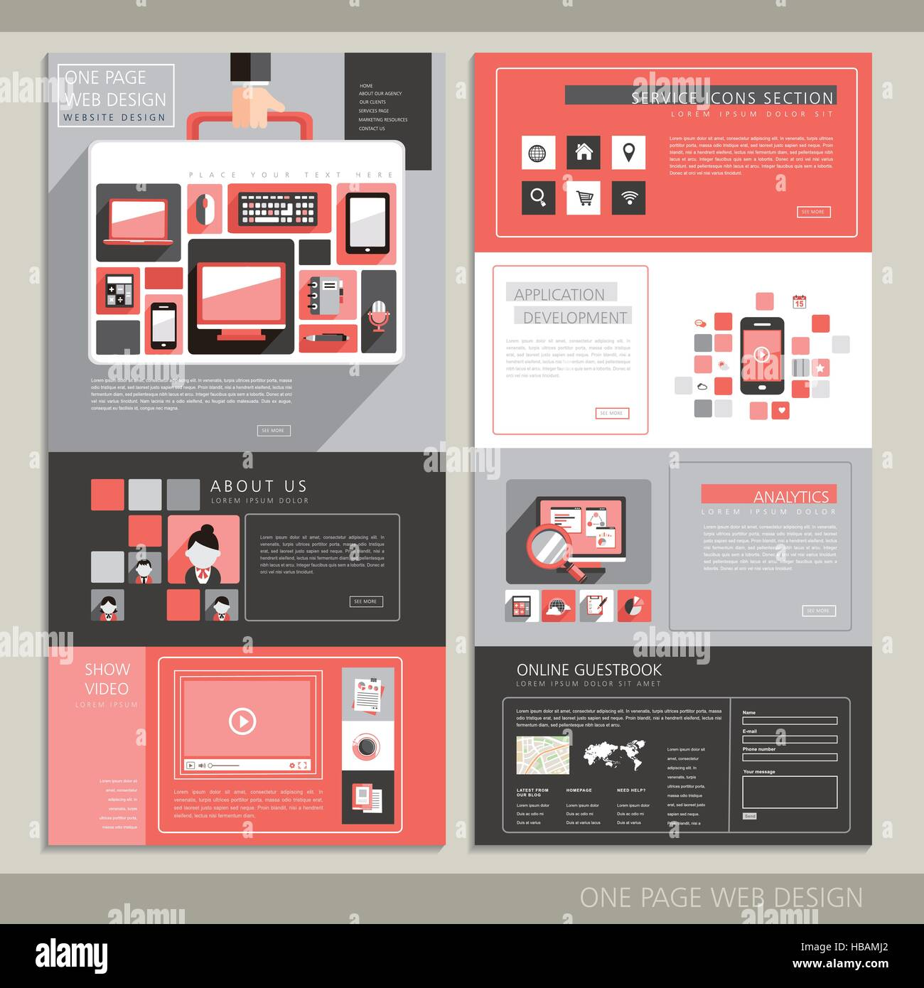 Technology Style One Page Website Stock Photos & Technology Style ...
