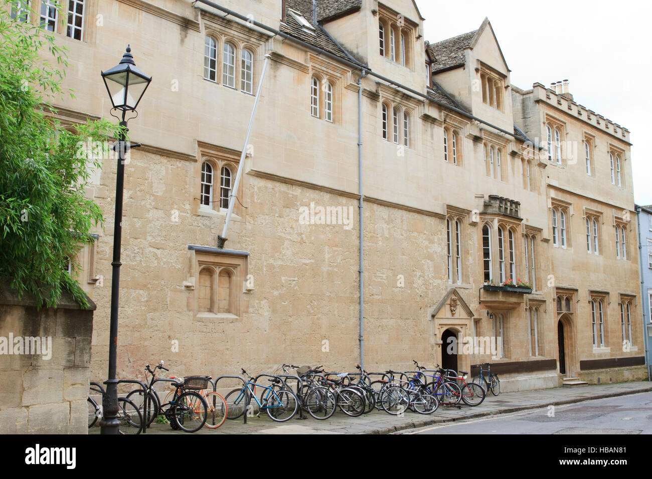 St. Edmund Hall in Queen's Lane, Oxford, England. - Stock Image