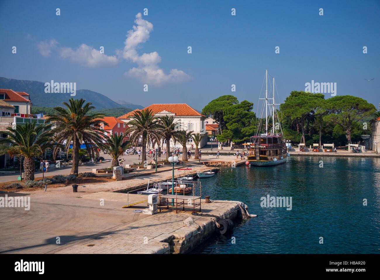 Jelsa, Makarska Riviera, Croatia - Stock Image