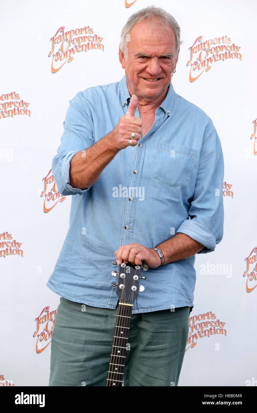 Ralph McTell backstage during Fairport's Cropredy Convention,  Banbury, England, UK. August 13, 2016 - Stock Image