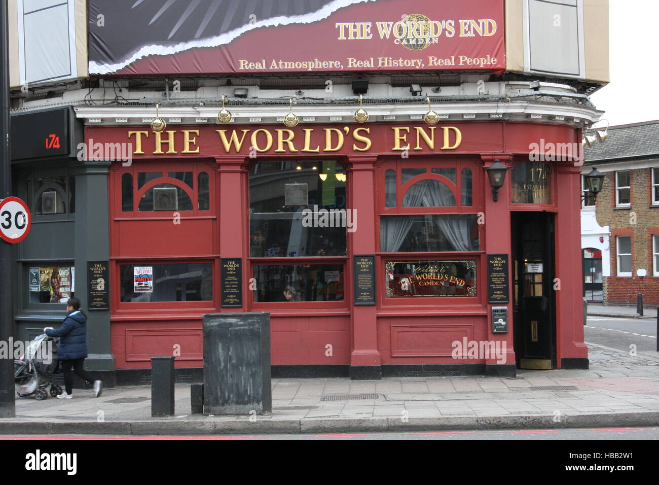 London, Pub The World´s End - Stock Image