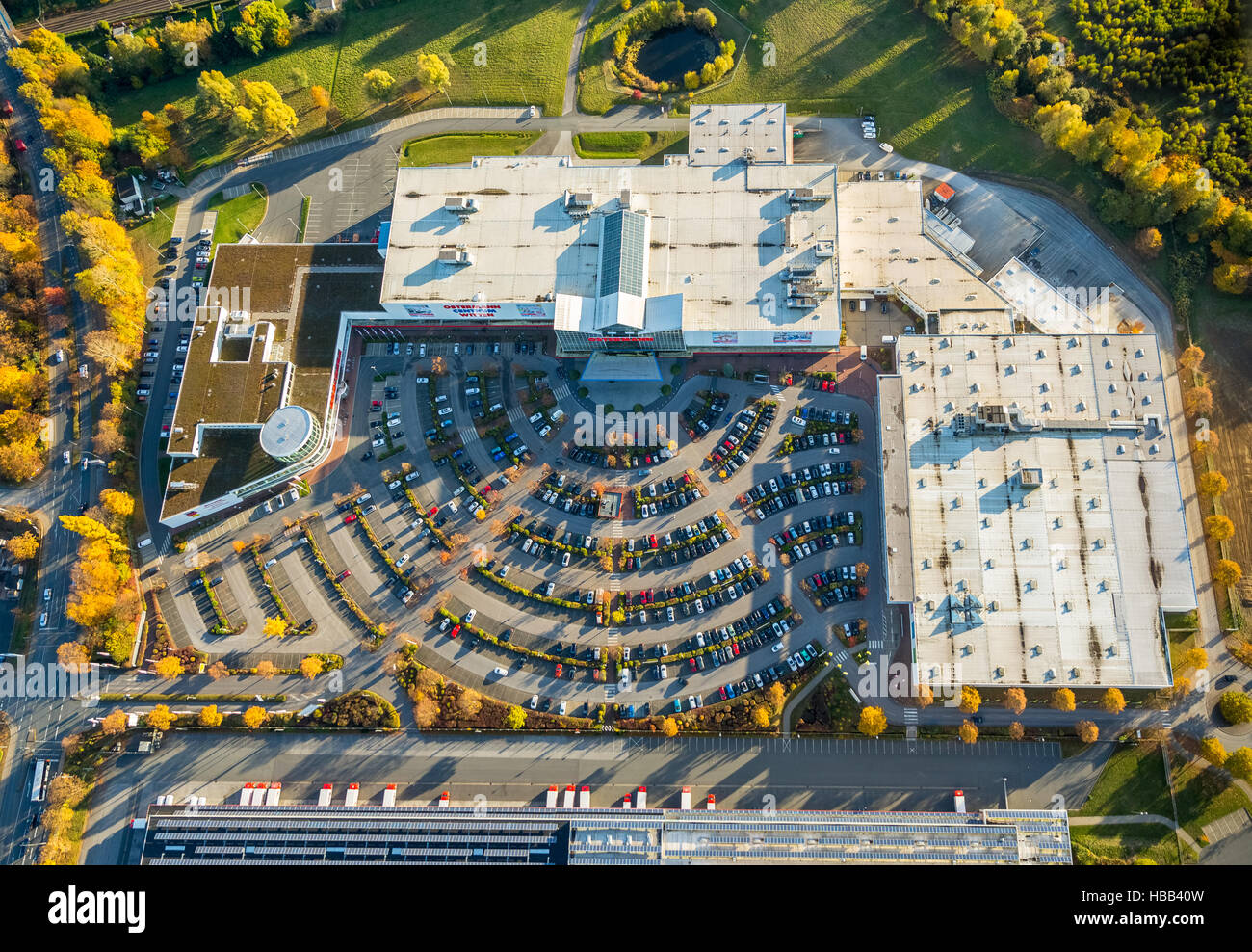 Aerial View Ostermann Sales Store Centrum Witten With Parking Stock
