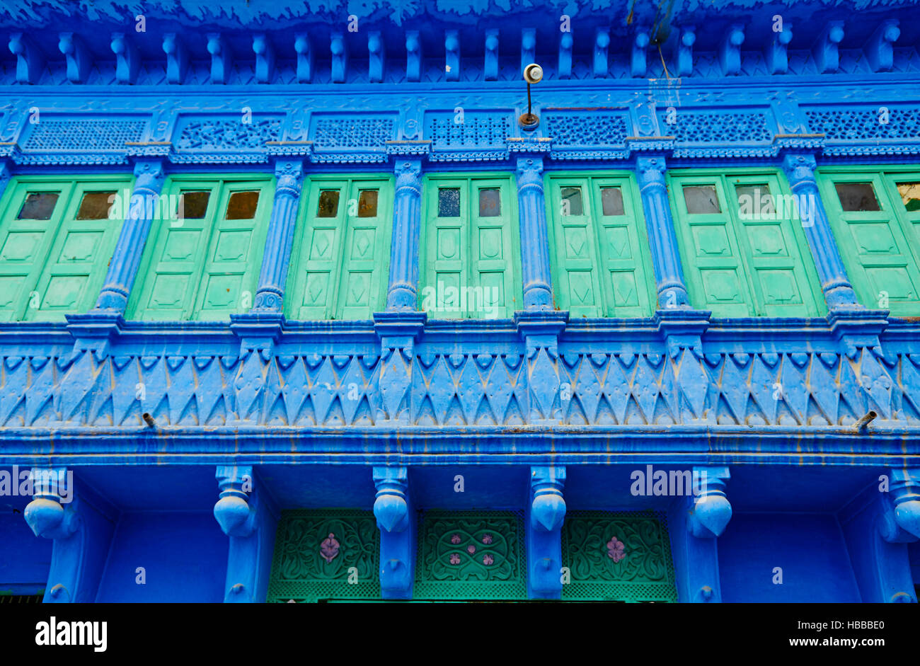Inde, Rajasthan, Jodhpur la ville bleue // India, Rajasthan, Jodhpur the blue city - Stock Image