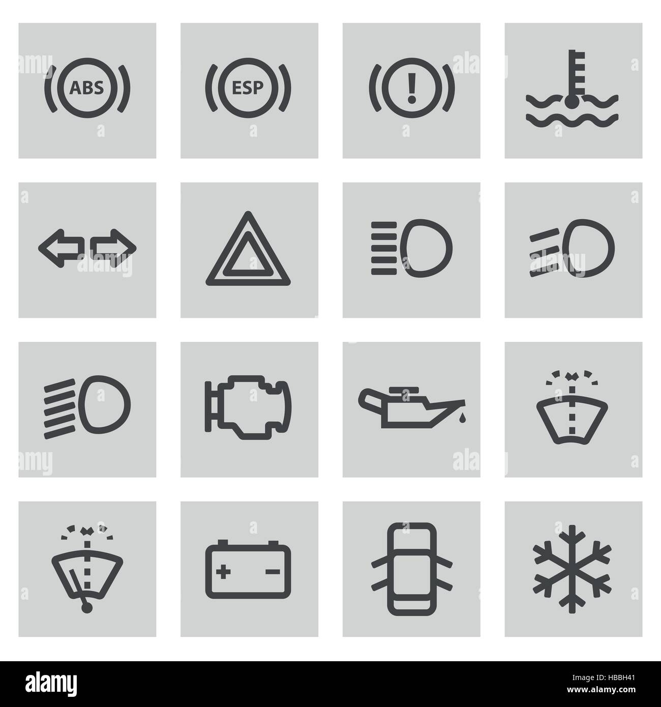 Car Dashboard Icons Stock Photos Car Dashboard Icons Stock Images