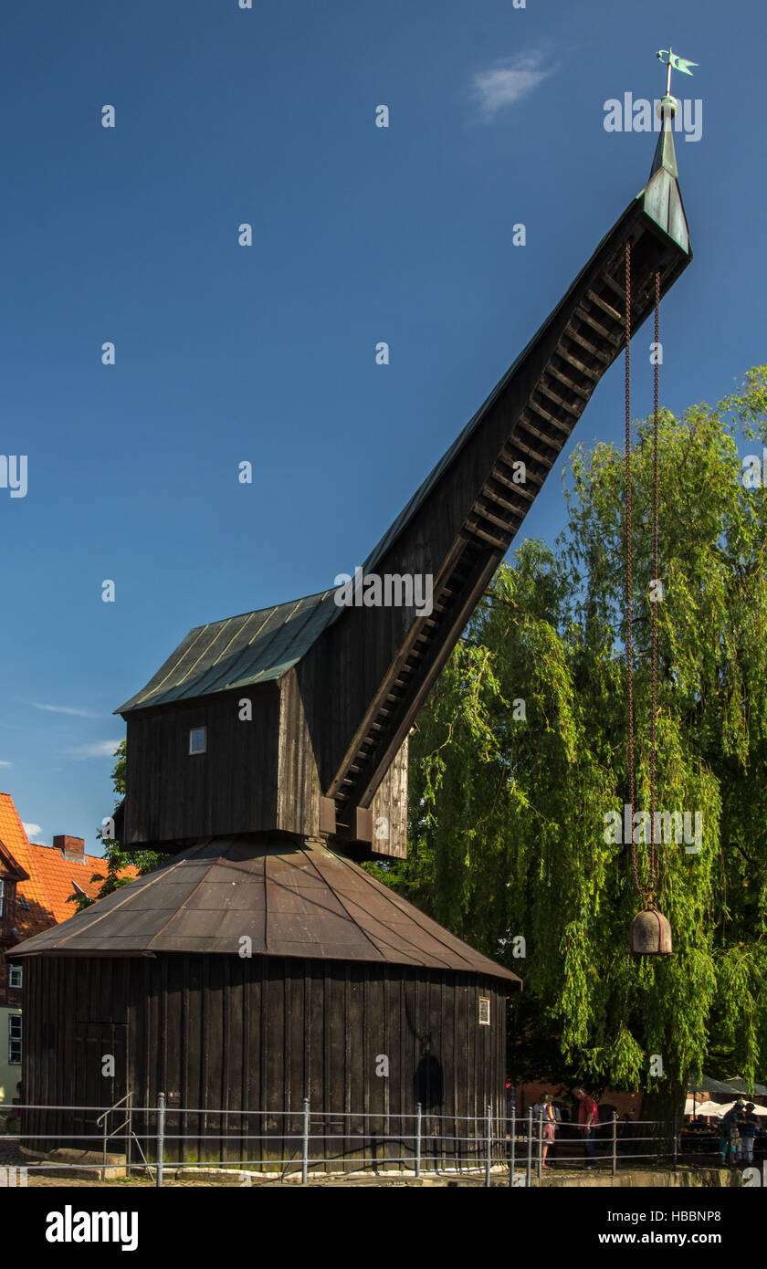 dockside crane - Stock Image