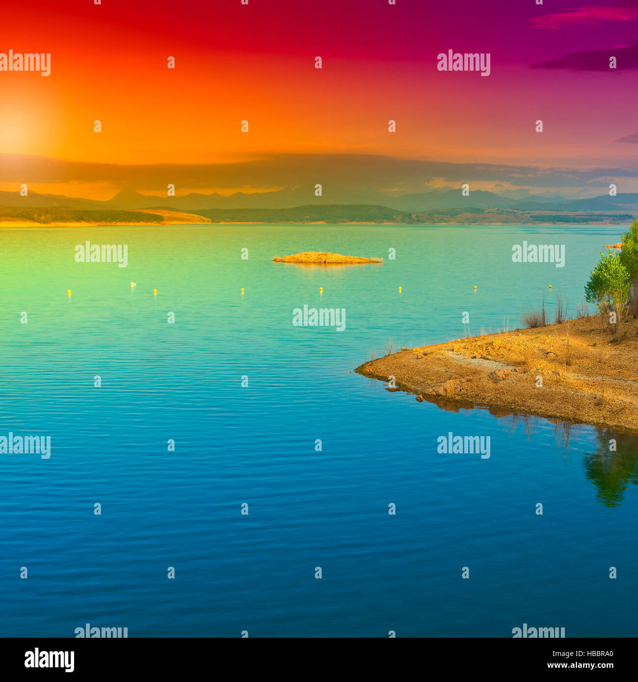 Lake in Spain - Stock Image