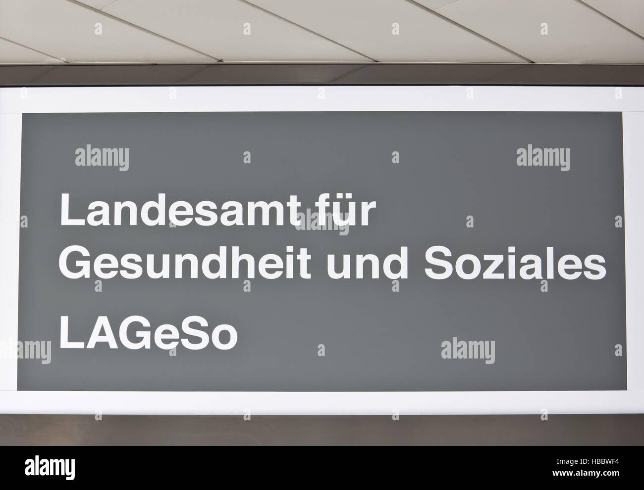 LAGeSo - Stock Image