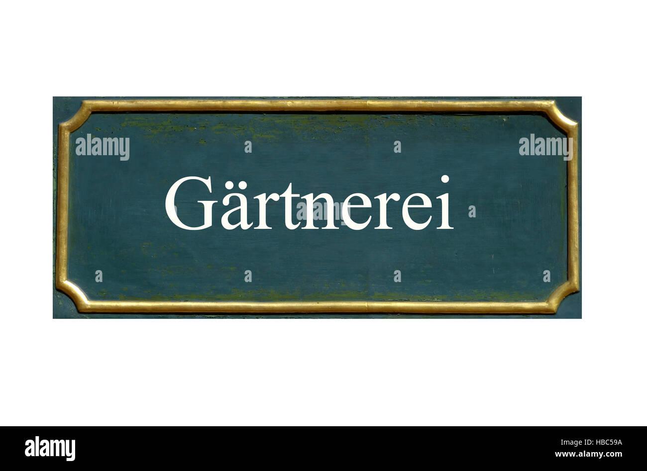 shield  gaertnerei - Stock Image