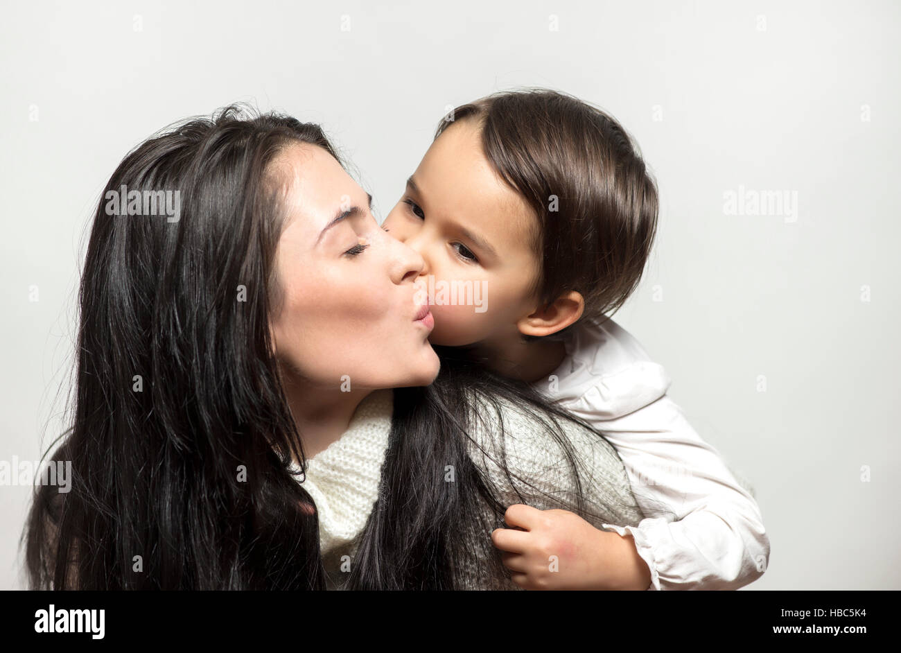 Mother and daughter love each other. Mother's Day Celebration - Stock Image