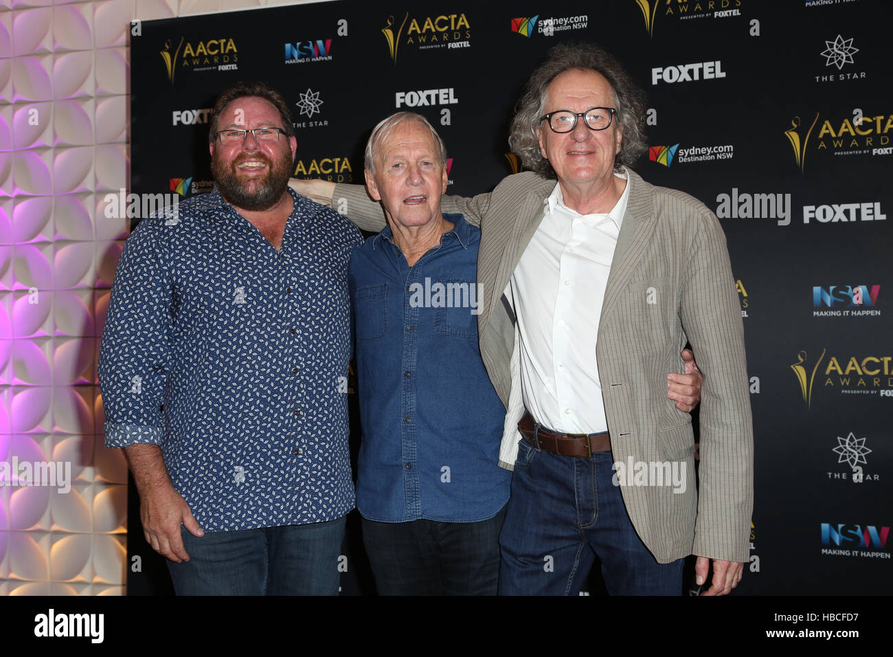 Sydney, Australia. 6th December, 2016. Australian actor Paul Hogan, known for the Crocodile Dundee movies as announced - Stock Image