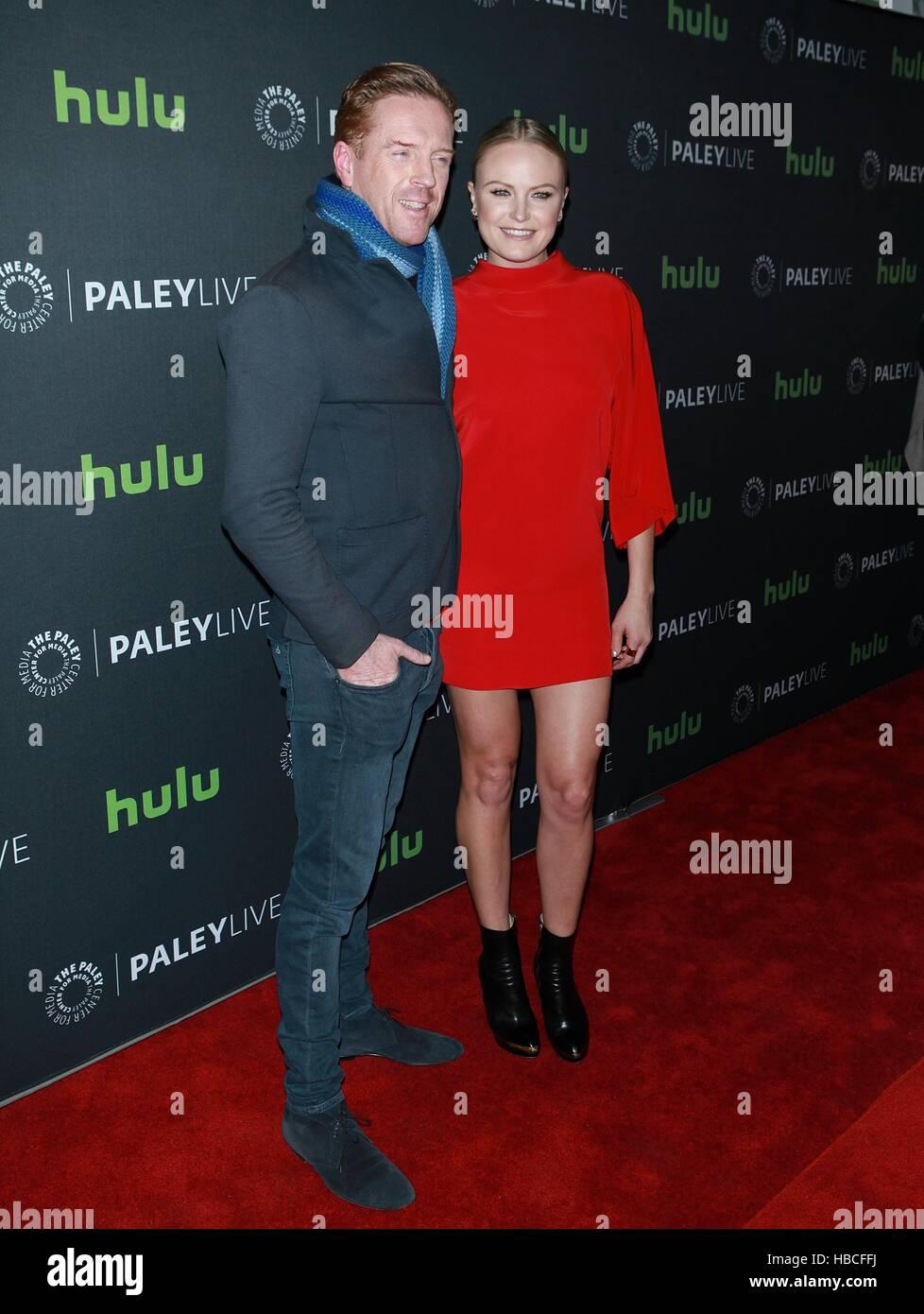 New York, USA. 5th December, 2016. Damian Lewis and Malin Akerman at 'PaleyLive NY Billions' at The Paley - Stock Image