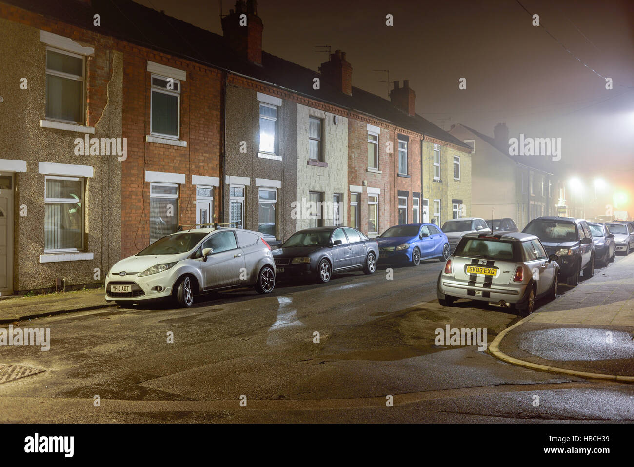 Hucknall, Nottinghamshire, UK. 06th Dec, 2016. Parts of North Nottinghamshire wake-up to misty damp start to the - Stock Image