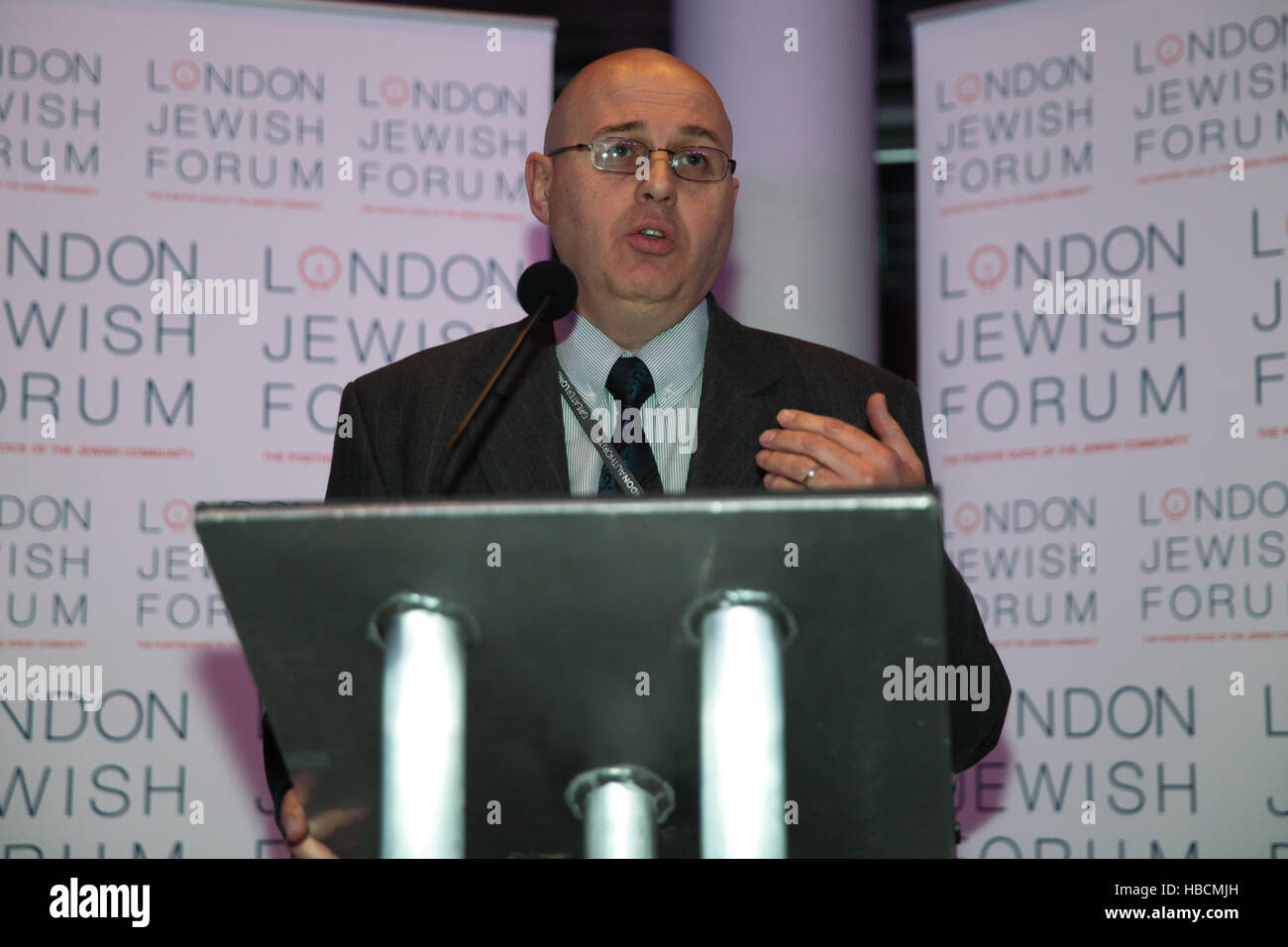 London, UK. 6th December, 2016. Keith Prince, Assembly Member speaks at the Chanukah Reception at City Hall. The - Stock Image