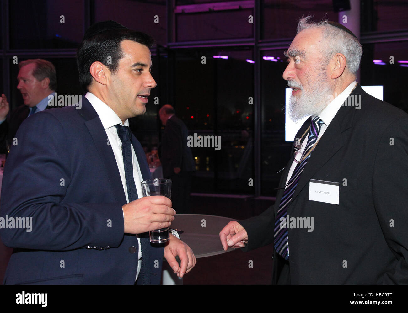 London, UK. 6th December, 2016. The Mayor of London, Sadiq Khan attends Chanukah Reception in City Hall hosted by - Stock Image