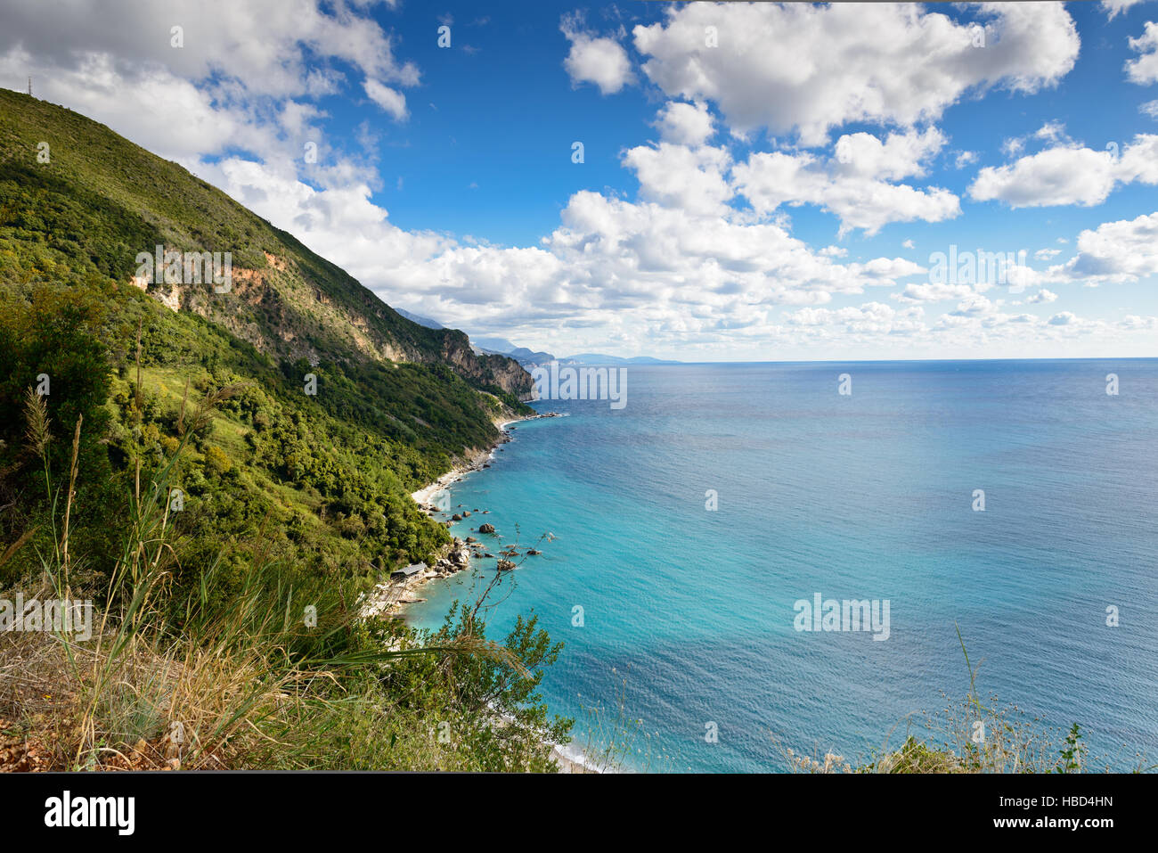 Mediterranean sea landscape near Budva, Montenegro, Europe. Stock Photo