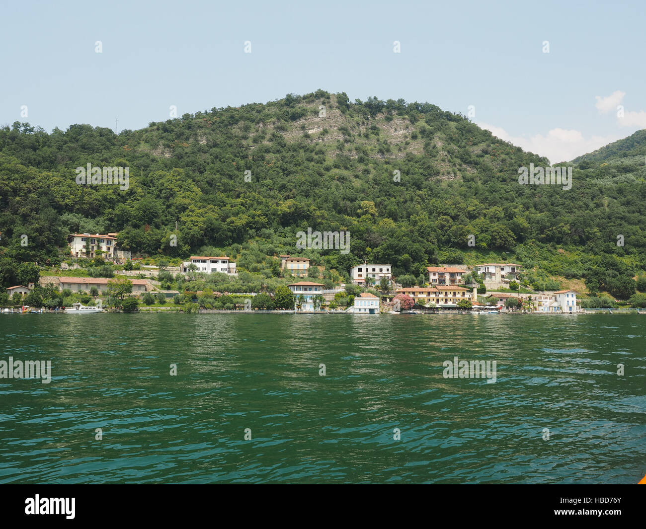 View of Lake Iseo - Stock Image