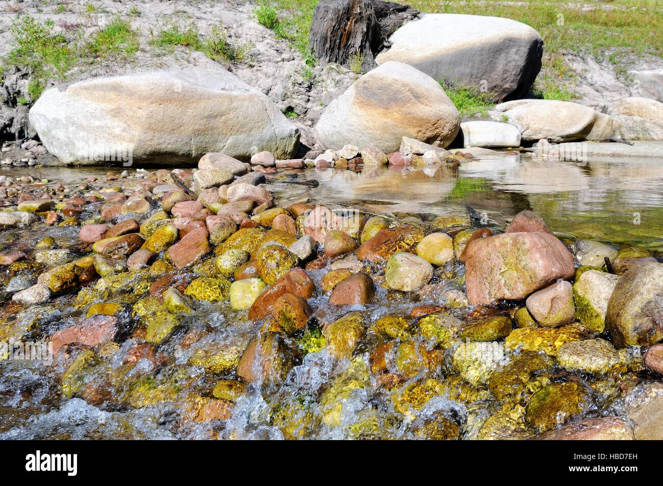 large stones Small stones in the river Stock Photo
