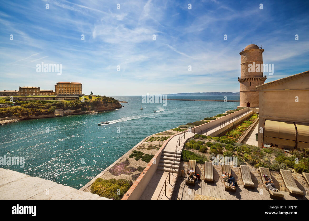 Fort Saint Jean in Marseille, France. - Stock Image
