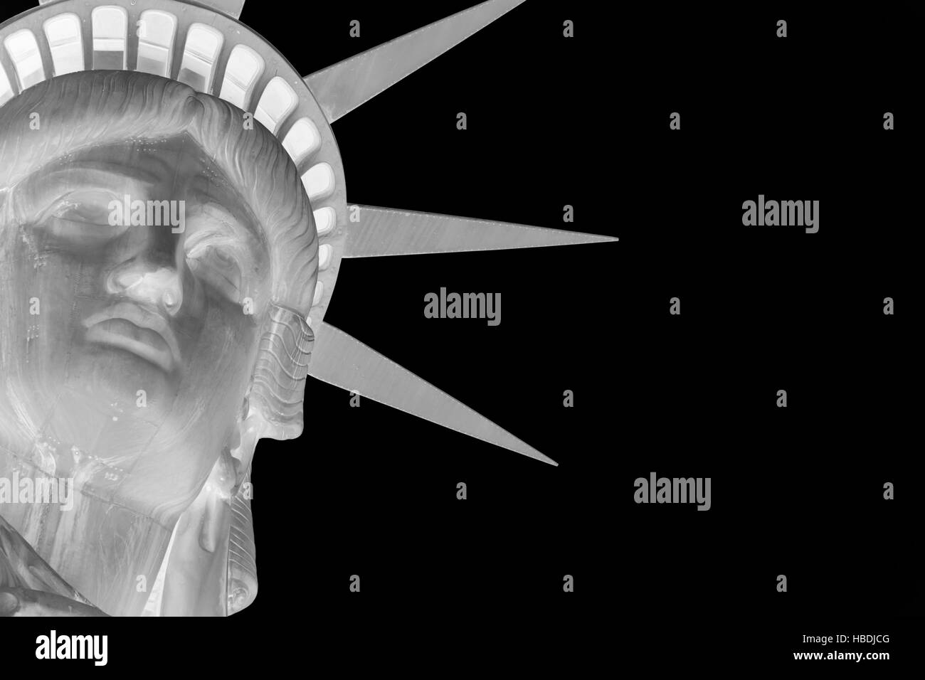 Statue of liberty inverted - Stock Image