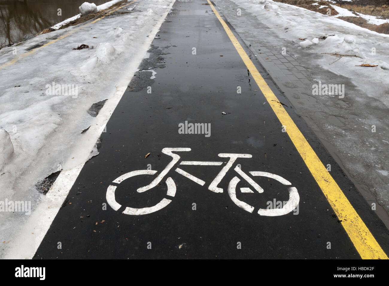 bicycle road - Stock Image