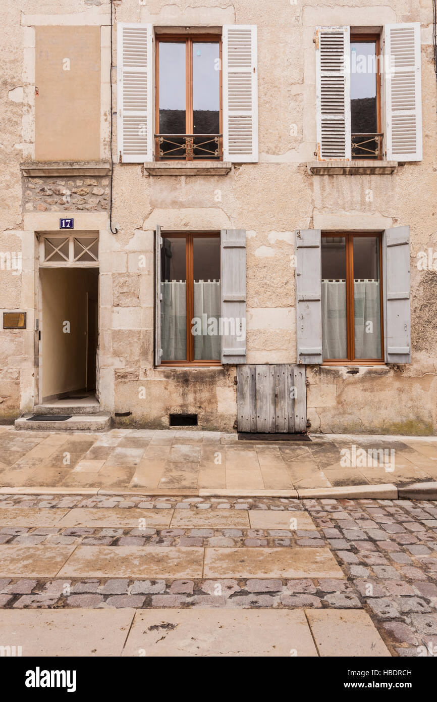An old house in the town of Avallon, Burgundy. - Stock Image